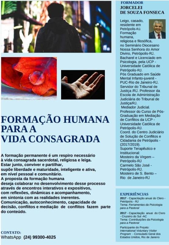 Formação humana com Jorcelei Fonseca