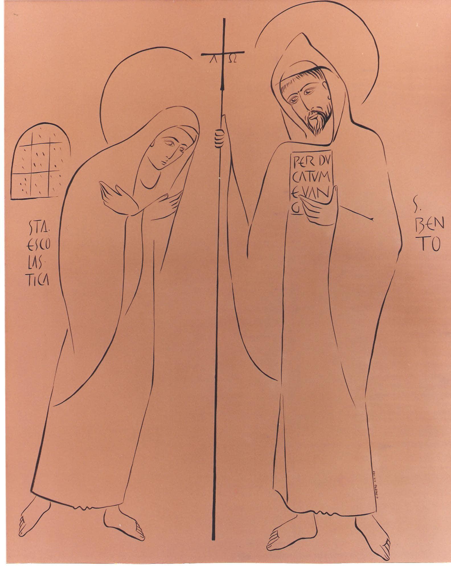 Capela São Bento e Santa Escolástica na Igreja Abacial do Mosteiro da Virgem
