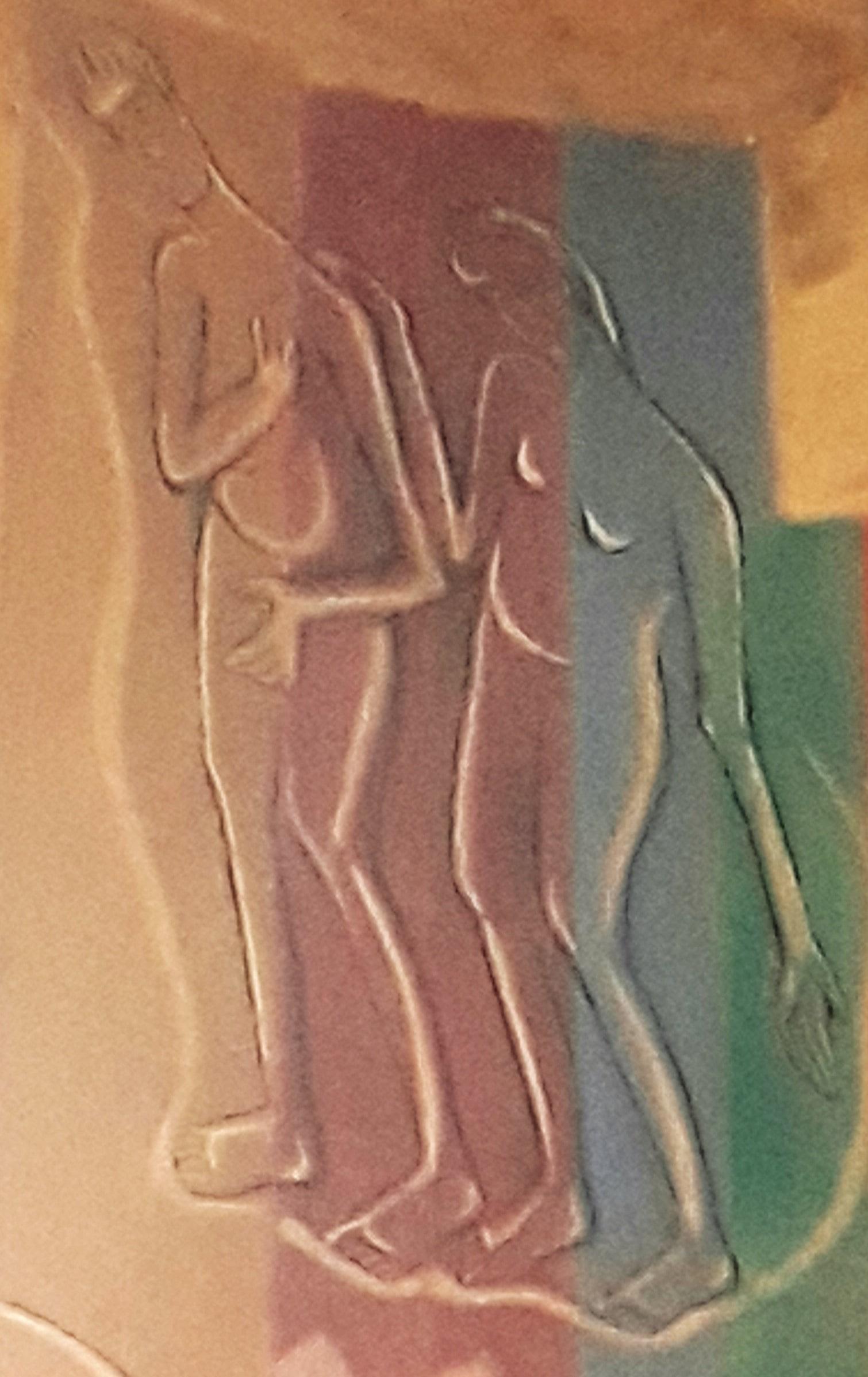 Adão e Eva - Painel da Abside da Igreja Abacial do Mosteiro da Virgem
