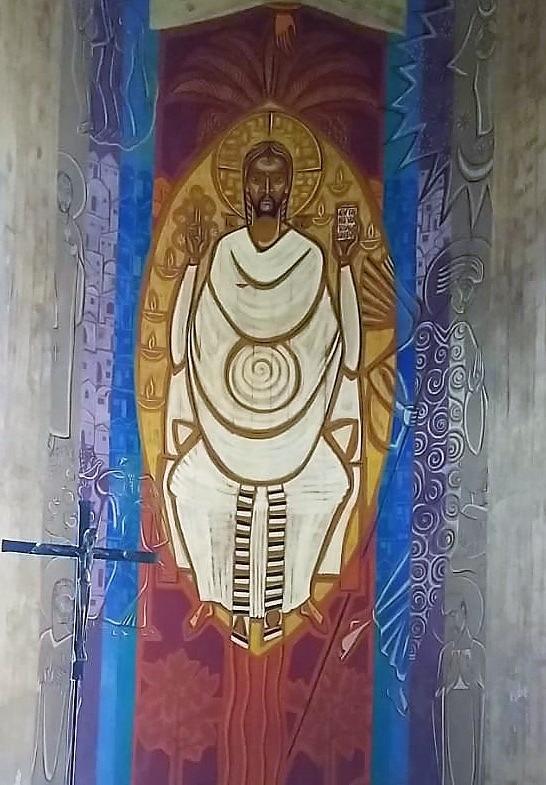 Painel da Abside da Igreja Abacial do Mosteiro da Virgem
