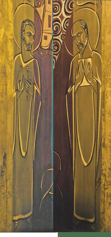 São Pedro e São Paulo - Painel da Abside da Igreja Abacial do Mosteiro da Virgem