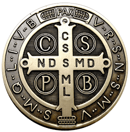 medalha São Bento frente